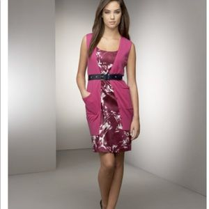 Theory pink fuchsia cocktail dress in silk